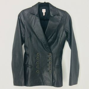 Joie Women's Black Leather Jacket Size Small
